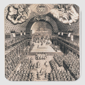 El general de estados en el teatro Borbón Pegatina Cuadrada