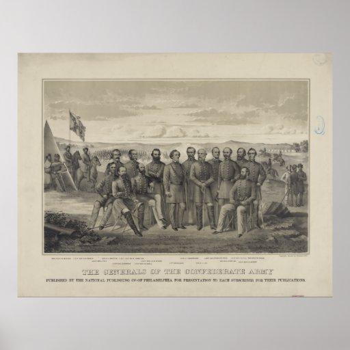 El general del ejército confederado póster
