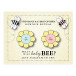 El género de la abeja del bebé revela la postal de