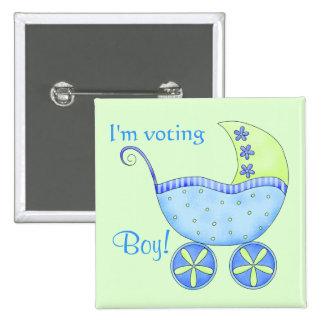 El género de votación del muchacho del bebé revela pin cuadrado