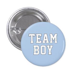 El género del bebé del muchacho el   del equipo re pin redondo de 1 pulgada
