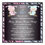 El género del bebé revela bebés y conejitos lindos invitaciones personales