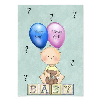 El género del bebé revela la invitación del fiesta