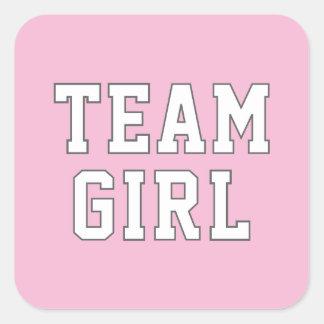 El género del chica el | del equipo revela a los pegatina cuadrada