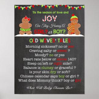 El género del navidad revela el poster de los póster