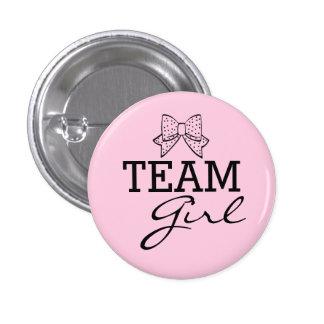 El género del rosa del chica del equipo revela la pin redondo de 1 pulgada