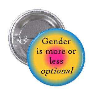 El género es botón opcional pin redondo de 1 pulgada