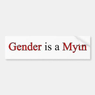 El género es pegatina para el parachoques del mito pegatina para auto