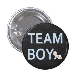 El género revela al muchacho de encargo del equipo pin redondo 2,5 cm