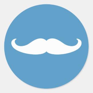 El género revela al pegatina del bigote