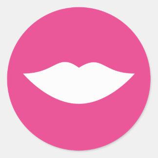 El género revela al pegatina rosado de los labios