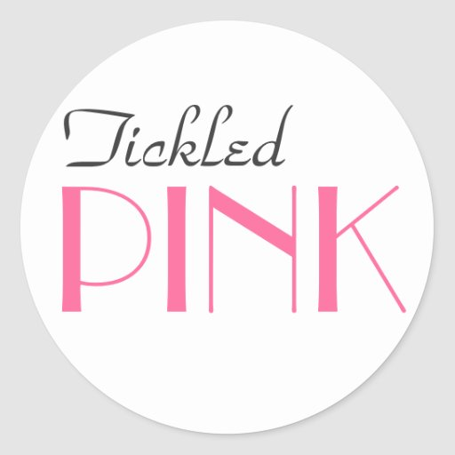 El género rosado elegante revela al pegatina