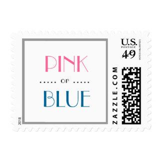 El género rosado o azul elegante revela franqueo