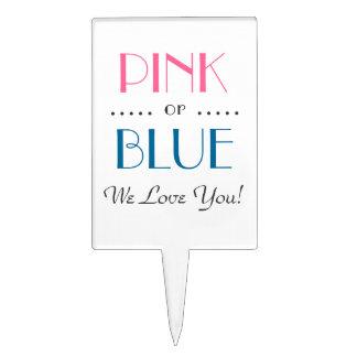 El género rosado o azul elegante revela la selecci figuras para tartas