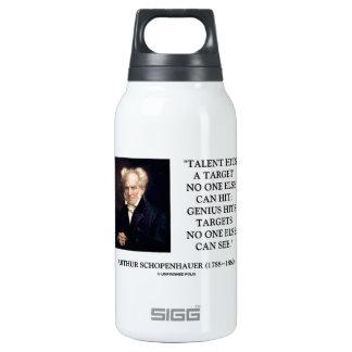 El genio del talento de Schopenhauer golpea