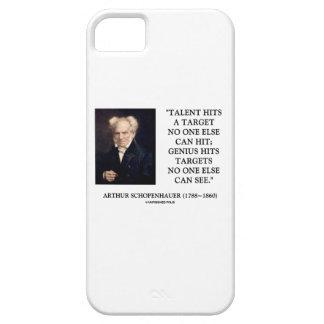 El genio del talento de Schopenhauer golpea blanco