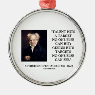 El genio del talento de Schopenhauer golpea blanco Ornatos