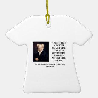 El genio del talento de Schopenhauer golpea blanco Ornamento Para Arbol De Navidad