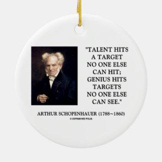 El genio del talento de Schopenhauer golpea blanco Ornamentos Para Reyes Magos