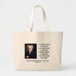 El genio del talento de Schopenhauer golpea Bolsa Tela Grande