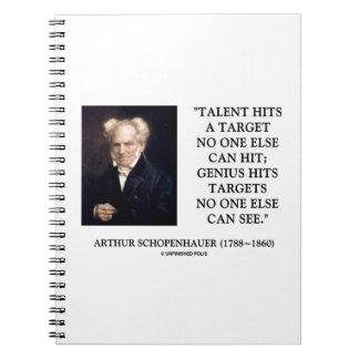 El genio del talento de Schopenhauer golpea Libro De Apuntes Con Espiral