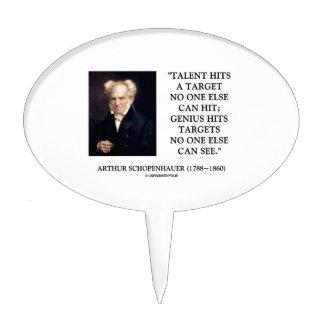 El genio del talento de Schopenhauer golpea Palillos De Tarta