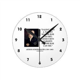 El genio del talento de Schopenhauer golpea Reloj Redondo Mediano