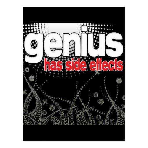 El genio tiene efectos secundarios tarjeta postal