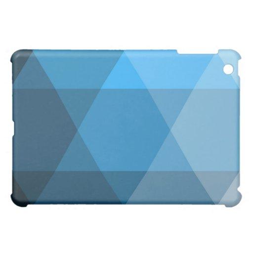 El geo azul raya el iPad del modelo del diamante d