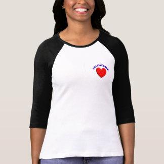 El geocaching del amor (corazón) playera