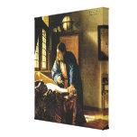 El geógrafo de Juan Vermeer (circa 1669) Impresión En Lienzo