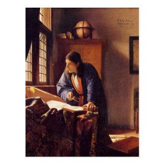El geógrafo de Juan Vermeer Tarjetas Postales