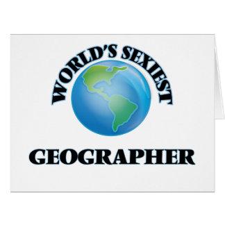 El geógrafo más atractivo del mundo tarjeta de felicitación grande