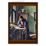 El geógrafo., por Juan Vermeer Felicitación