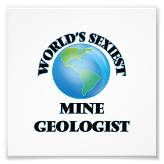 El geólogo más atractivo de la mina del mundo arte fotografico