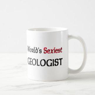 El geólogo más atractivo del mundo taza básica blanca