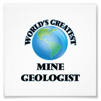 El geólogo más grande de la mina del mundo impresion fotografica