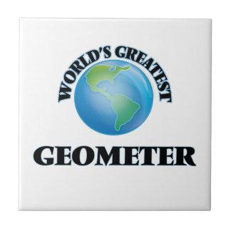 El geómetra más grande del mundo azulejos