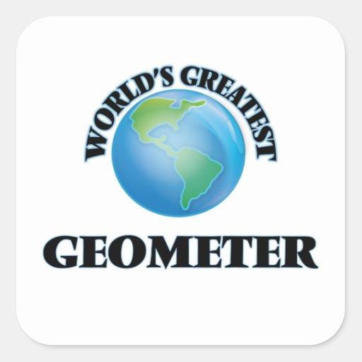 El geómetra más grande del mundo pegatinas cuadradases personalizadas