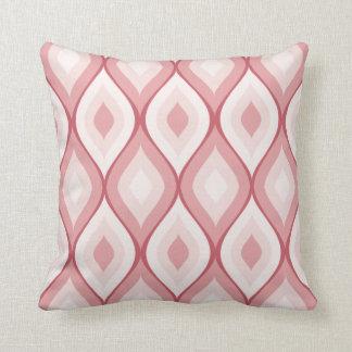El | geométrico oval Curvy rosado y blanco Cojines
