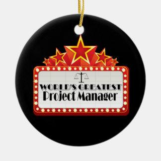 El gestor de proyecto más grande del mundo adorno navideño redondo de cerámica