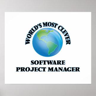 El gestor de proyecto más listo del software del póster