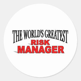 El gestor de riesgos más grande del mundo pegatina redonda