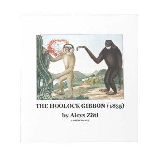 El Gibbon de Hoolock (1835) por Aloys Zotl Blocs De Papel