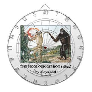 El Gibbon de Hoolock (1835) por Aloys Zotl Tablero Dardos