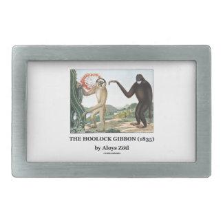 El Gibbon de Hoolock (1835) por Aloys Zotl Hebilla Cinturon Rectangular