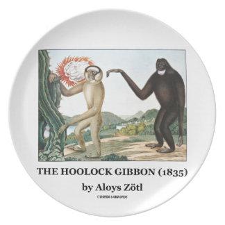 El Gibbon de Hoolock (1835) por Aloys Zotl Platos De Comidas