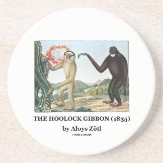El Gibbon de Hoolock (1835) por Aloys Zotl Posavasos Personalizados