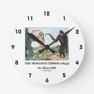 El Gibbon de Hoolock (1835) por Aloys Zotl Reloj