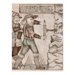 El gigante Baugi, persuadido por Odin Postales